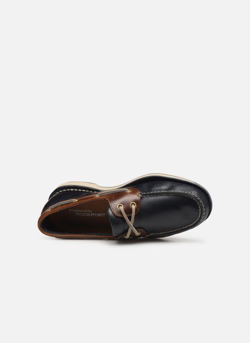 Zapatos con cordones Rockport Perth C Azul vista lateral izquierda