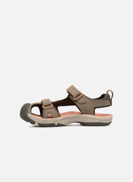Sandali e scarpe aperte Teva Hurricane Toe Pro Kids Marrone immagine frontale