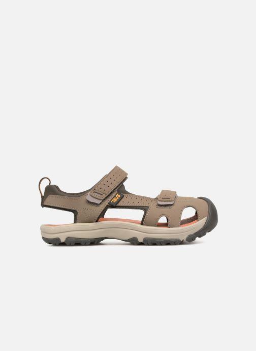 Sandales et nu-pieds Teva Hurricane Toe Pro Kids Marron vue derrière