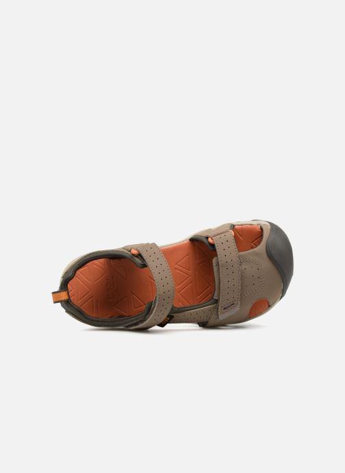 Sandali e scarpe aperte Teva Hurricane Toe Pro Kids Marrone immagine sinistra