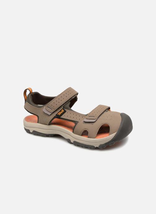 Sandales et nu-pieds Teva Hurricane Toe Pro Kids Marron vue détail/paire