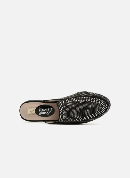 Zuecos I Love Shoes Thelui Negro vista lateral izquierda