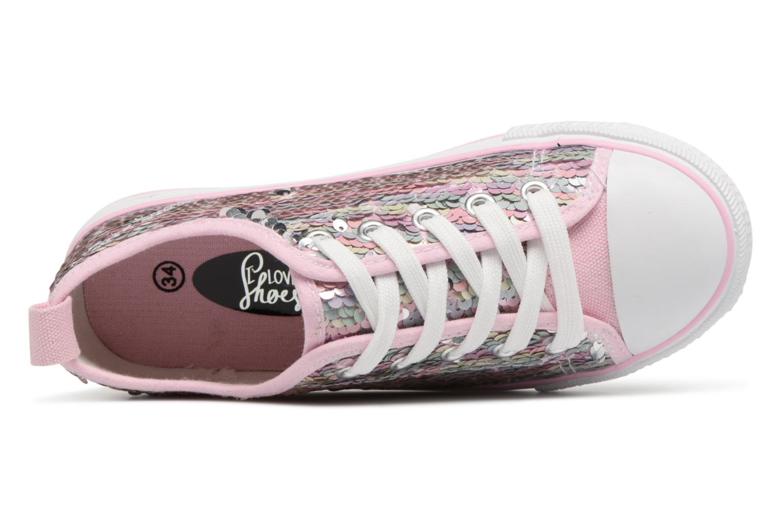 Baskets I Love Shoes Thiciel Rose vue gauche