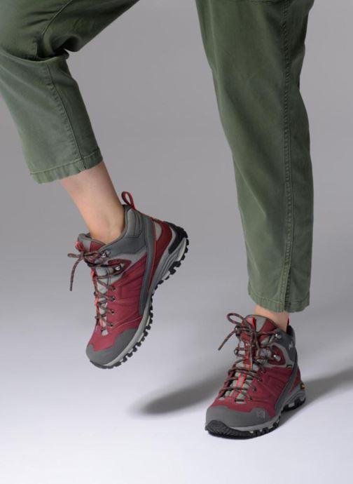 Chaussures de sport Millet LD HIKE UP MID Bordeaux vue bas / vue portée sac
