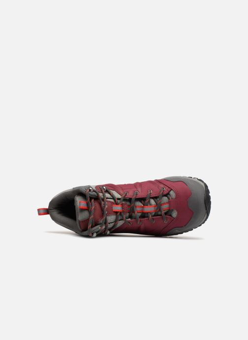 Chaussures de sport Millet LD HIKE UP MID Bordeaux vue gauche