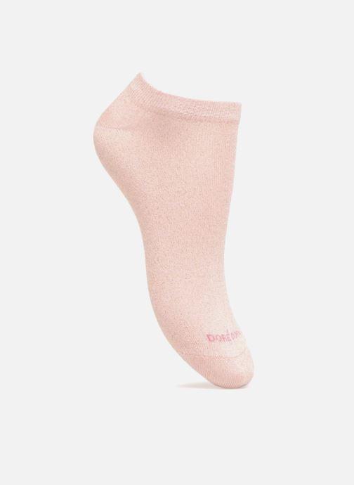 Chaussettes et collants Doré Doré Chaussons Maille Unie Rose vue détail/paire