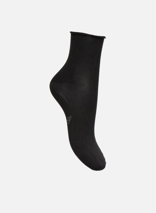 Chaussettes et collants Doré Doré Soquettes Maille Unie Bord roulé Noir vue détail/paire