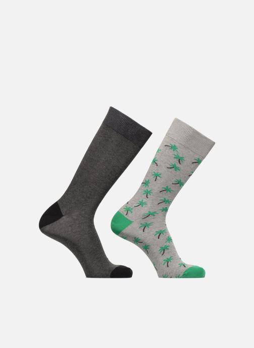 Strømper og tights Sarenza Wear Chaussettes hautes Homme Palmiers Pack de 2 coton Grå detaljeret billede af skoene