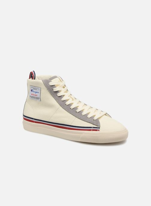 Baskets Champion Mid Cut Shoe MERCURY MID CANVAS W Blanc vue détail/paire