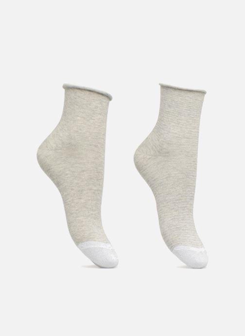 Chaussettes et collants Esprit Chaussettes NICE STRIPES SHORT SOCKS Lot de 2 Gris vue détail/paire