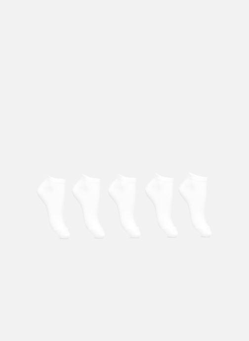 Chaussettes et collants Esprit Chaussettes Courtes Solid Unies Lot de 5 Blanc vue détail/paire