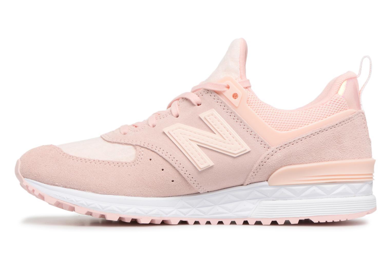 Sneakers New Balance WS574 W Roze voorkant