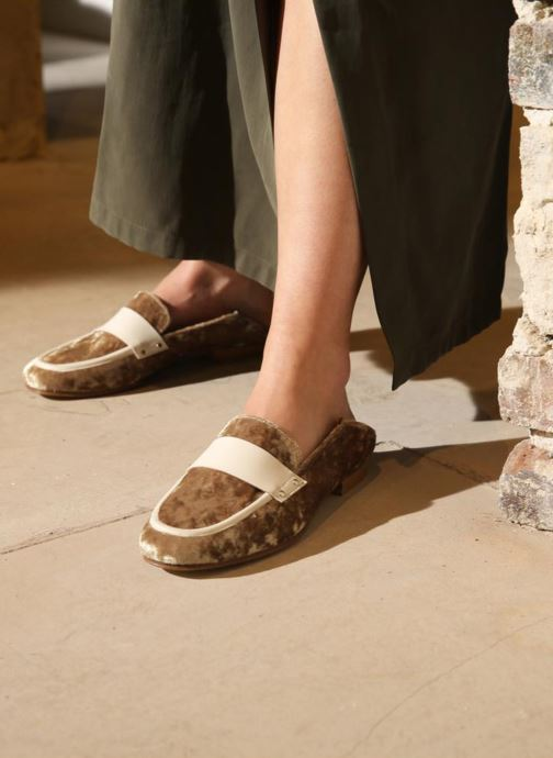 Loafers Made by SARENZA Made by Sarenza X Valentine Gauthier Mocassin Beige view from underneath / model view