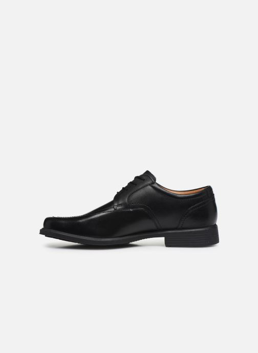 Zapatos con cordones Clarks Huckley Spring Negro vista de frente