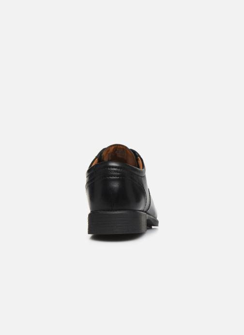 Zapatos con cordones Clarks Huckley Spring Negro vista lateral derecha