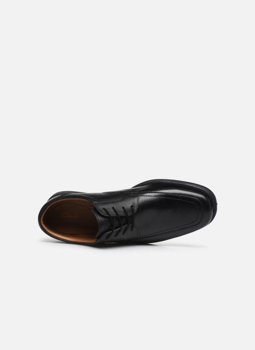 Zapatos con cordones Clarks Huckley Spring Negro vista lateral izquierda