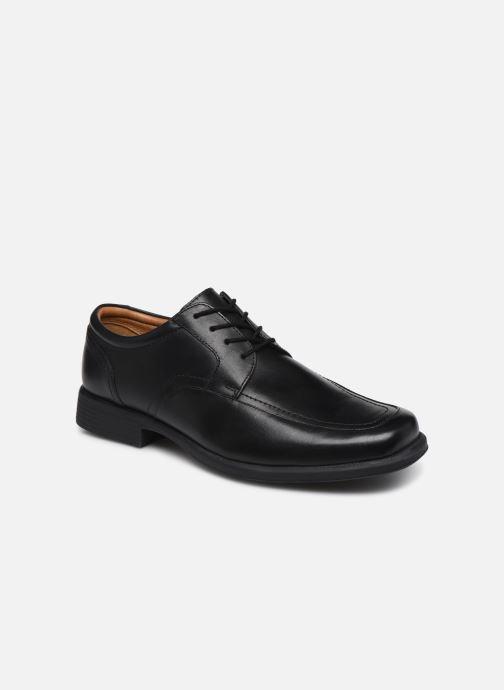 Zapatos con cordones Clarks Huckley Spring Negro vista de detalle / par