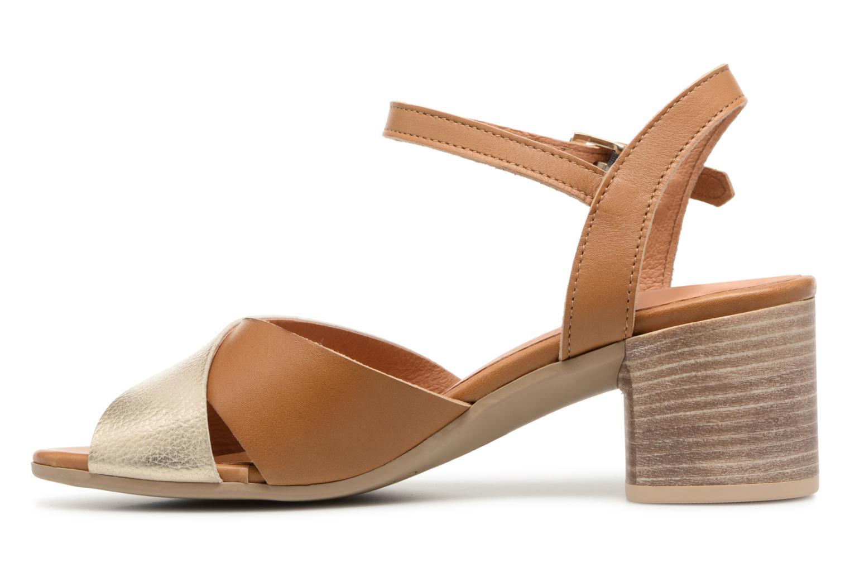 Sandales et nu-pieds Georgia Rose Semoria soft Marron vue face