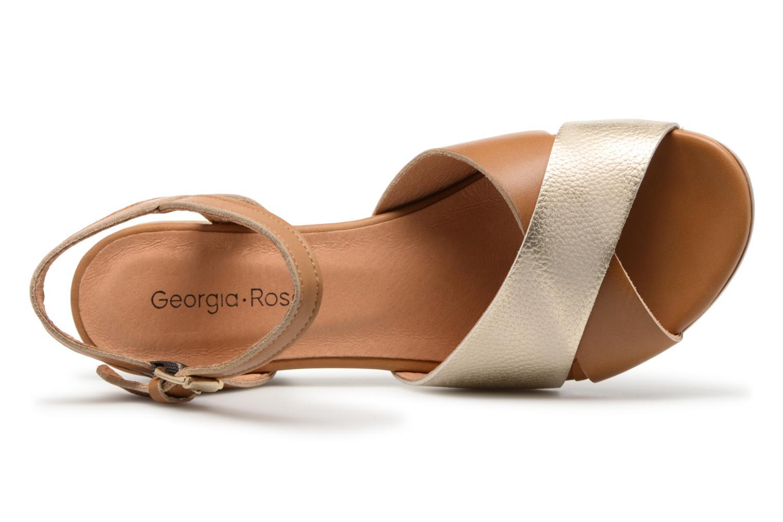 Sandales et nu-pieds Georgia Rose Semoria soft Marron vue gauche