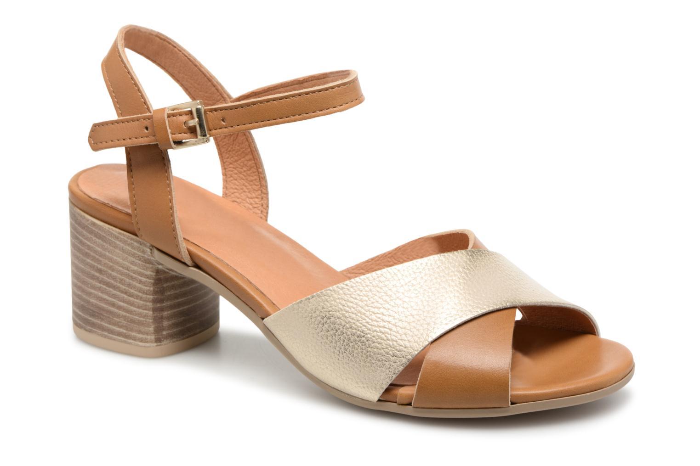 Sandales et nu-pieds Georgia Rose Semoria soft Marron vue détail/paire
