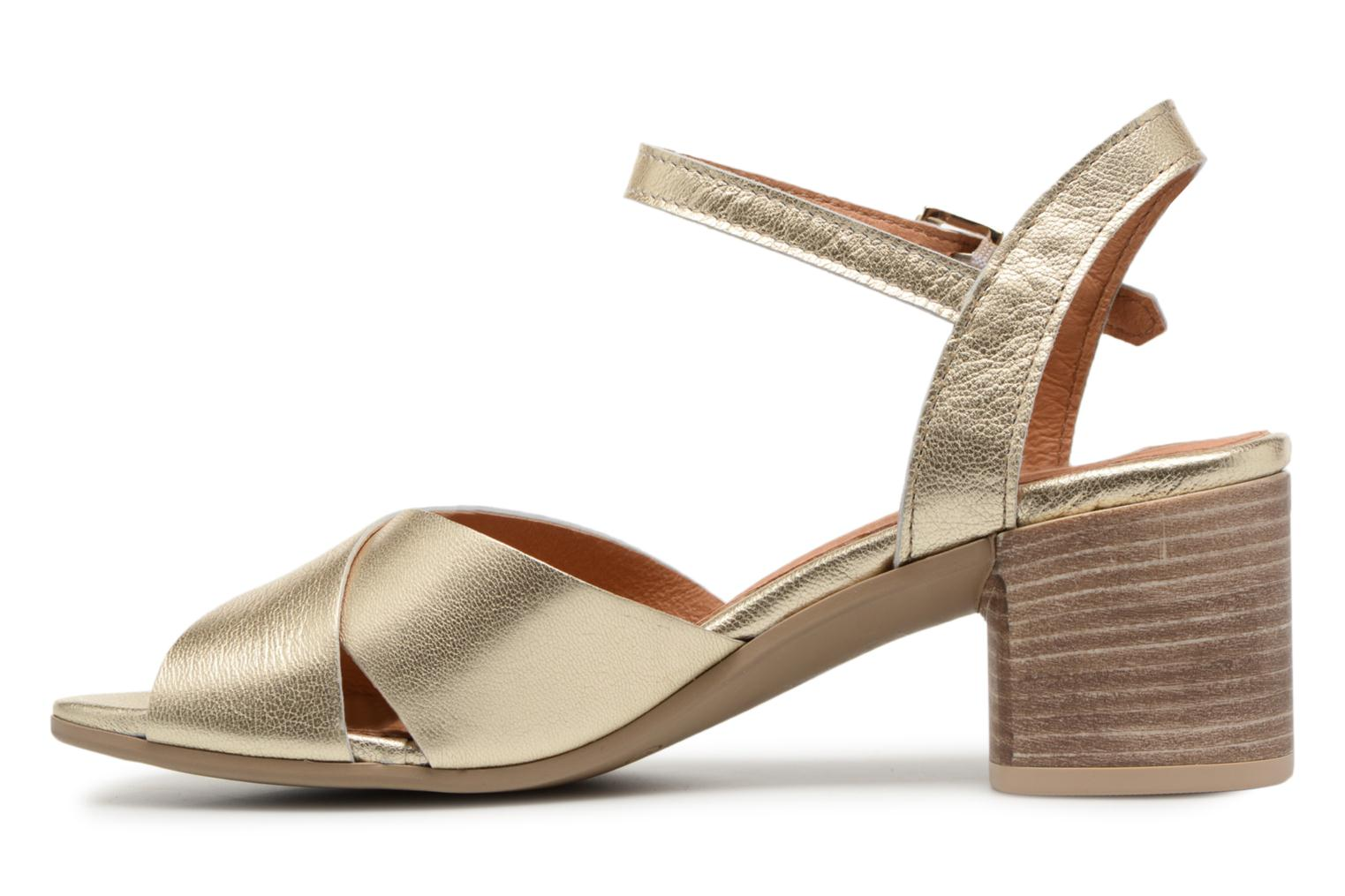Sandals Georgia Rose Semoria soft Bronze and Gold front view