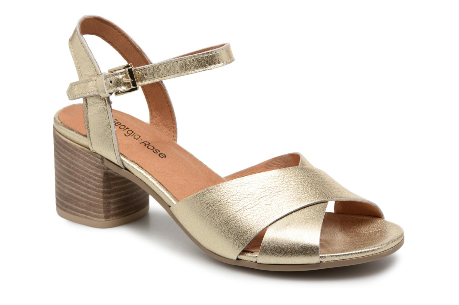 Sandals Georgia Rose Semoria soft Bronze and Gold detailed view/ Pair view