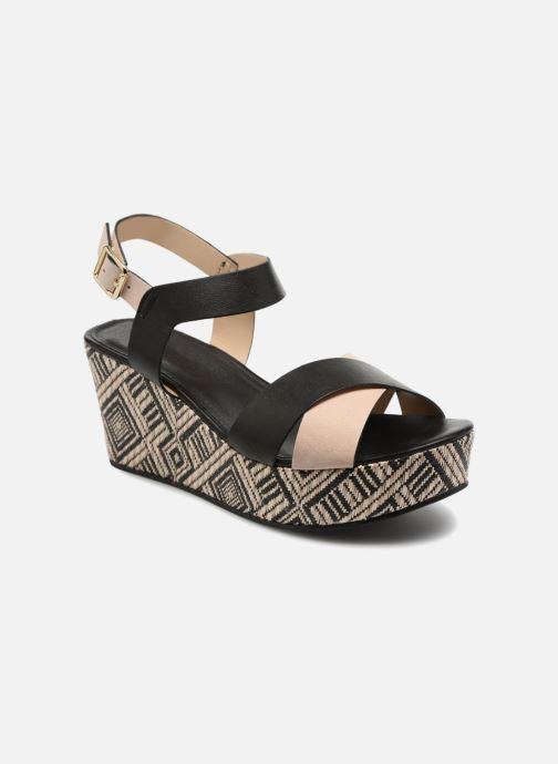 Sandaler Georgia Rose Lavata Sort detaljeret billede af skoene