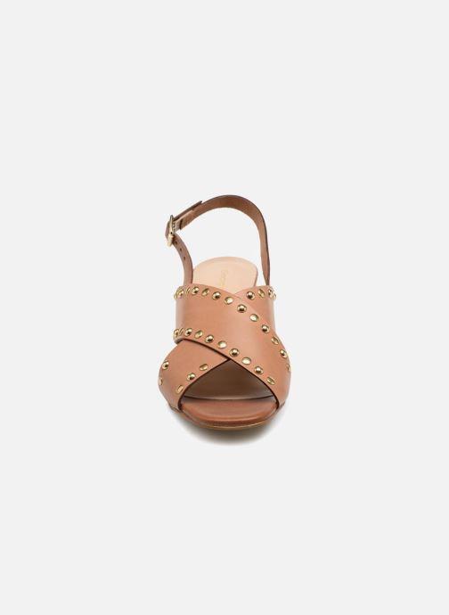 Sandales et nu-pieds Georgia Rose Loclou Marron vue portées chaussures