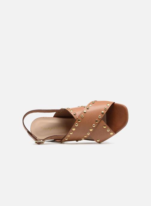 Sandales et nu-pieds Georgia Rose Loclou Marron vue gauche
