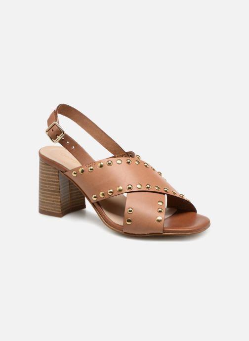 Sandales et nu-pieds Georgia Rose Loclou Marron vue détail/paire