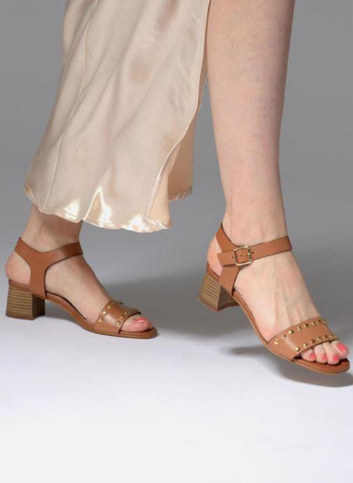 Sandales et nu-pieds Georgia Rose Locoulan Marron vue bas / vue portée sac