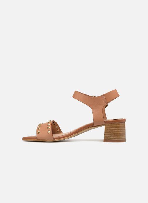 Sandales et nu-pieds Georgia Rose Locoulan Marron vue face