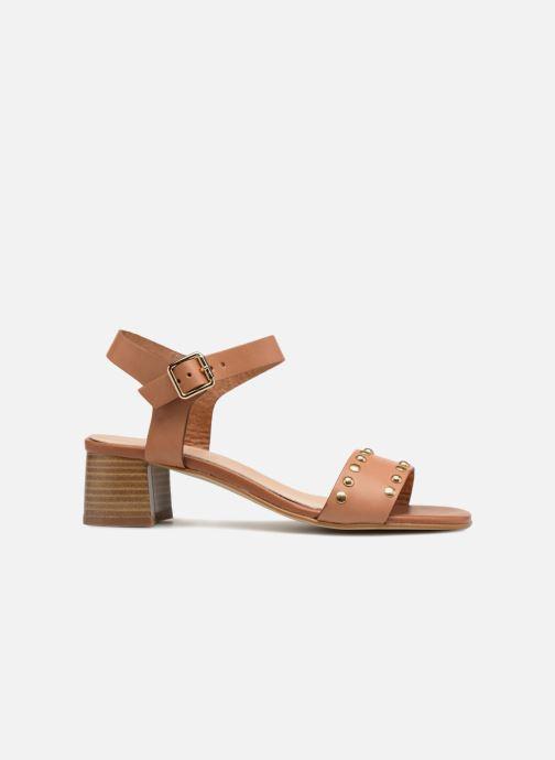 Sandales et nu-pieds Georgia Rose Locoulan Marron vue derrière