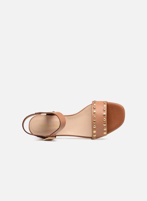 Sandales et nu-pieds Georgia Rose Locoulan Marron vue gauche