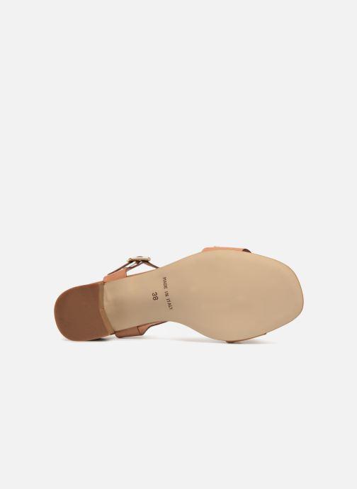Sandales et nu-pieds Georgia Rose Locoulan Marron vue haut