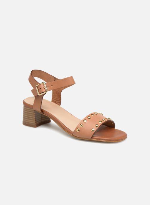 Sandales et nu-pieds Georgia Rose Locoulan Marron vue détail/paire