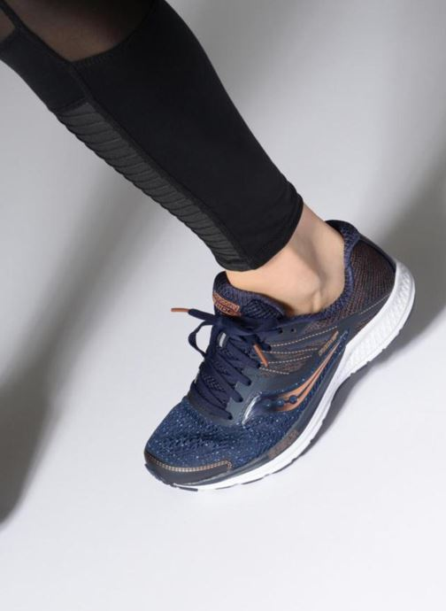 Chaussures de sport Saucony Ride 10 W Bleu vue bas / vue portée sac