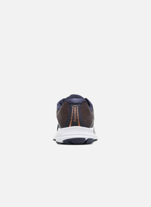 Chaussures de sport Saucony Ride 10 W Bleu vue droite