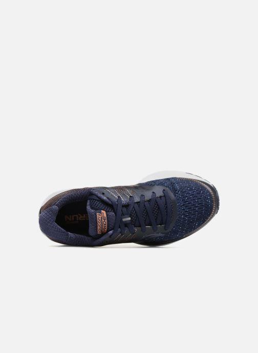Chaussures de sport Saucony Ride 10 W Bleu vue gauche