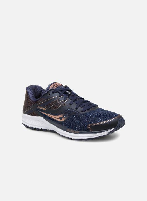 Chaussures de sport Saucony Ride 10 W Bleu vue détail/paire