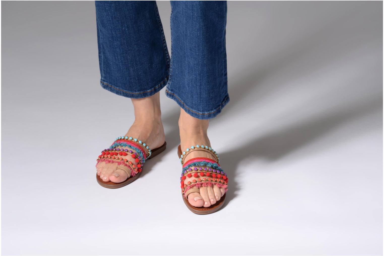 Sandales et nu-pieds Steve Madden Gypsy Slipper Multicolore vue bas / vue portée sac