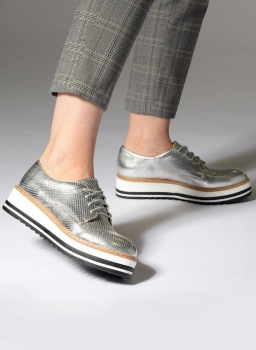 1e03f0c4de3 Lace-up shoes Steve Madden Vassar Lace-up Silver view from underneath    model