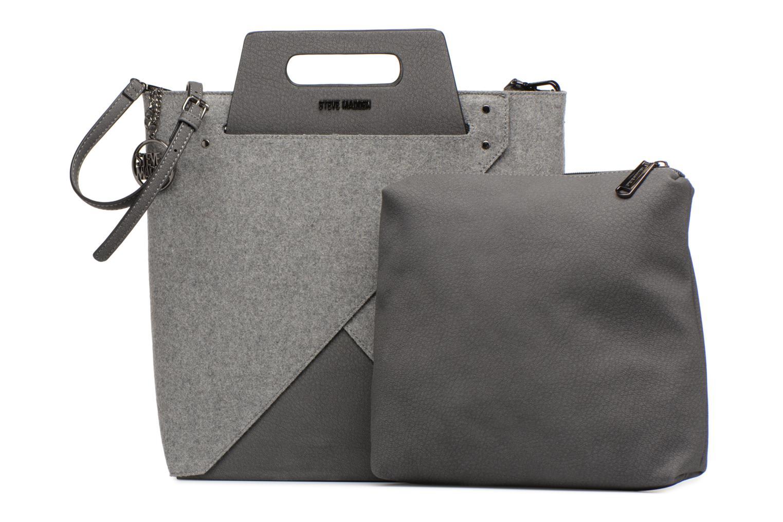 Handtaschen Steve Madden Bbelie grau ansicht von links