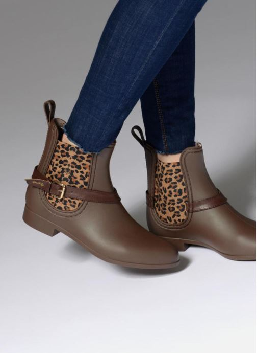 Ankle boots Be Only Ocelot Mat Brown view from underneath / model view