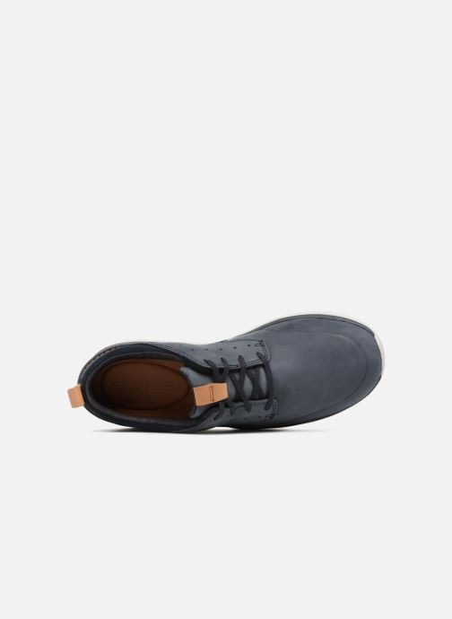 Trainers Clarks Garratt Lace Blue view from the left
