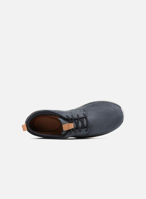 Sneaker Clarks Garratt Lace blau ansicht von links