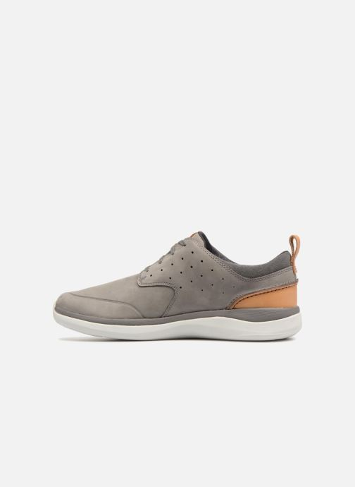 Trainers Clarks Garratt Lace Grey front view