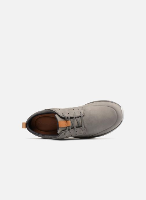 Trainers Clarks Garratt Lace Grey view from the left