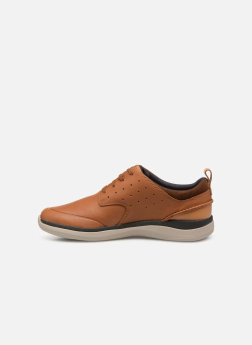 Trainers Clarks Garratt Lace Brown front view