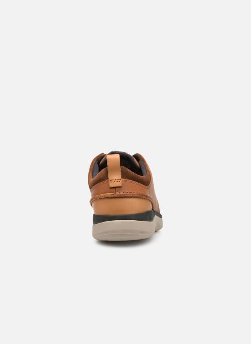 Trainers Clarks Garratt Lace Brown view from the right